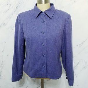 Pendleton | Vintage 1990s Blue Virgin Wool Blazer
